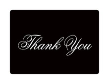 Modern White Border Thank You Cards