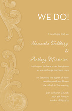 Unique Baroque Transparent Flourish Gold Invitations
