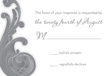 Traditional Baroque RSVP Cards