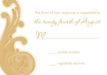 Extraordinary Baroque RSVP Cards