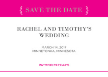 Hot Pink Simple Border Invitation