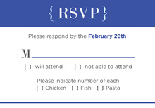 Trendy Bright Blue RSVP Cards