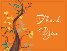 Designer Abstract Tree Thank You Cards