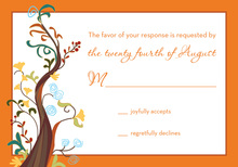 Fine Abstract Tree RSVP Cards