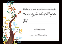 Charming Tree RSVP Cards