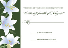 Charming Lilies RSVP Cards