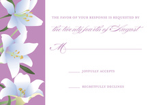Irresistible Lilies RSVP Cards