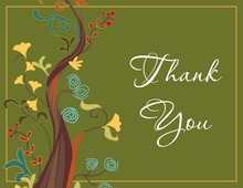 Spring Fling Tree Thank You Cards