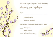 Blossoms Way RSVP Cards