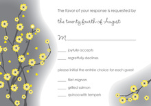 Special Yellow Blossoms RSVP Cards