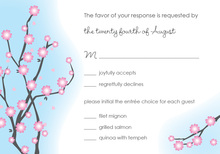 Pink Blossoms RSVP Cards