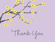 Purple Blossoms Thank You Cards
