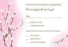 Classic White Blossoms RSVP Cards