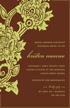 Rich Brown Sage Floral Invitations