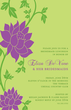 Love Purple Grows Stylish Invitations