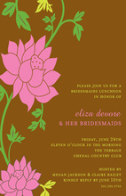 Love Feminine Pink Grows Invitations