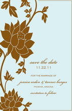 Unique Brown Flower Grows Invitations
