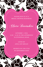 Regal Rose Digital Pink Invitations