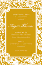 Luxuriant Gold Elegance Invitations