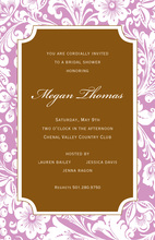Luxuriant Pink Elegance Invitations