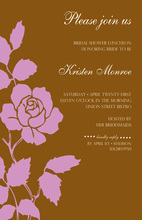 One Pink Rose Brown Invitations