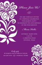 Exactly Eggplant Digital Style Invitations