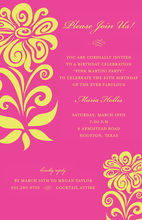 Vim Vivid Pink Digital Style Invitations