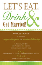 Traditional Eat Drink Married Invitations