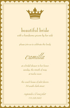 Princess Bride Border Scalloped Invitations