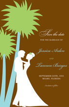 Silhouette Tropical Destination Invitations
