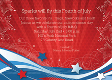 Patriotic Swirls-Flurries Invitations