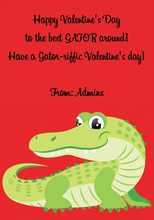 Love Aligator Greeting Cards