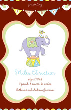 Big Top Elephant Invitations