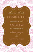 Pink Sonnet Digital Invitations