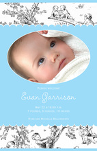 Toile Boy Baby Shower Photo Cards