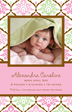 Simply Spring Photo Birth Announcements