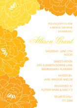 Tangerine-Orange Floral Beauty Invitations