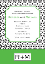 Very Modern Octagonal Green Invitations