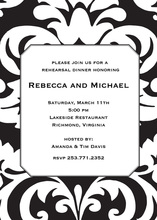 Bold Black Damask Invitations