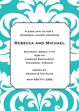 Bold Blue Damask Invitations