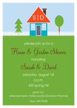 Custom Happy Home Shower Invitations