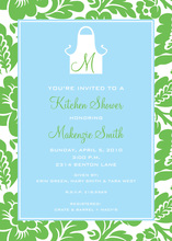 Floral Border Kitchen Initial Invitations