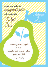 Charming Modern Pear Invitations