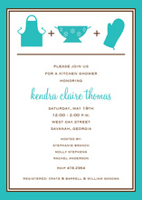 Turquoise Kitchen Essentials Invitation