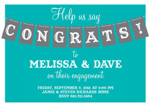 Simple CONGRATS Banner Invitations