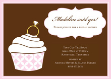 Ring On Pink Cupcake Blink Invitations