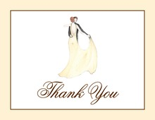 Dancing Couple on Cream Thank You Cards