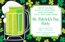 Irish Beer Invitations