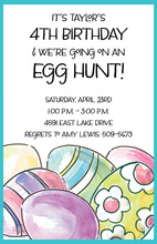 Painted Eggs Invitations