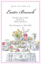 Easter Table Invitations